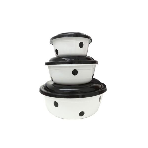 Kit com 3 Potes Redondo - Ref. 9666