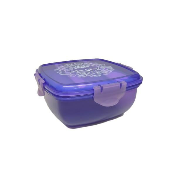 Marmita de Plástico Com Garfo e Faca - Ref. MT72