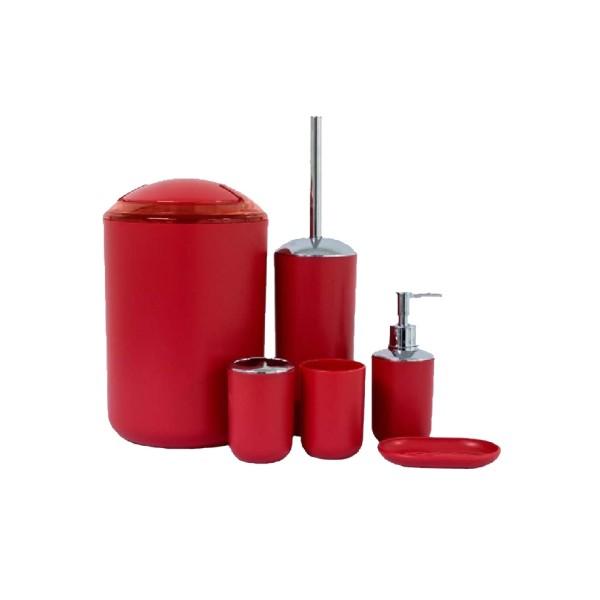 Kit para Banheiro vermelho - Ref. 1534