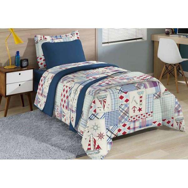 Jogo de cama Solteiro Inovare navio - Ref. 1000259