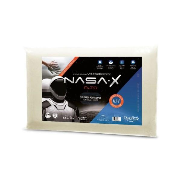 Travesseiro Viscoelastico Nasa Alto Duoflex - Ref. NS3100