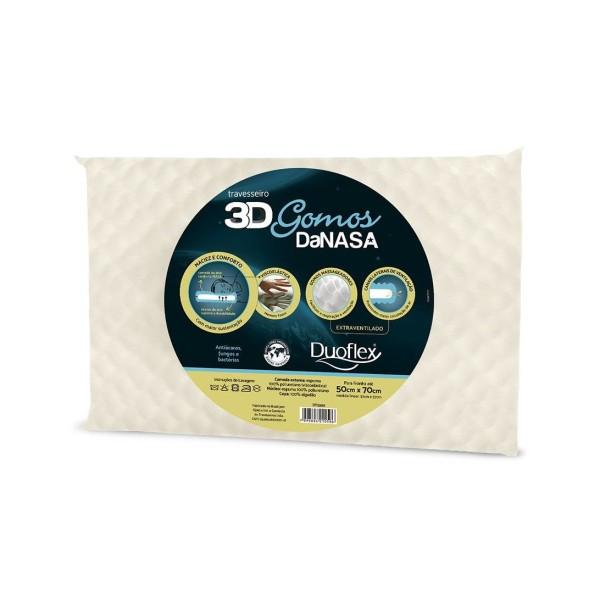 Travesseiro 3D Gomos da DaNasa Duoflex - Ref. DT3200