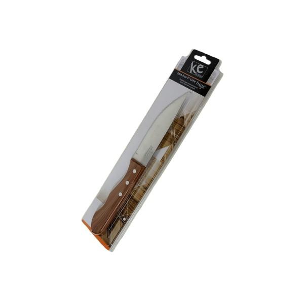 Faca Inox 5 com cabo Plástico e Textura de Madeira - Ref. 6234