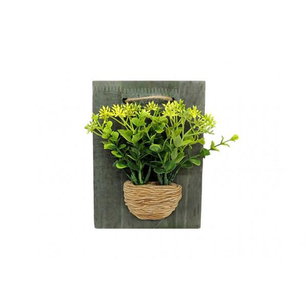 Planta Artificial com Vaso para Parede Sortido - Ref. 46102