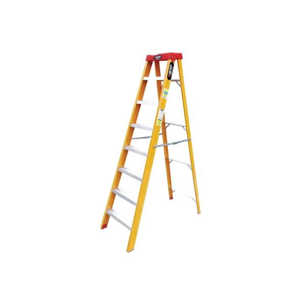 Escada Fibra Tesoura Prática 7 Degraus - Ref. 9902