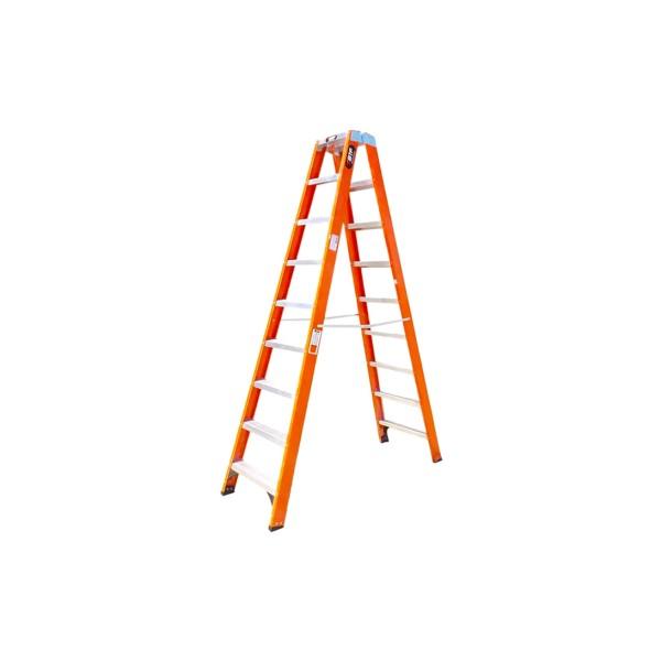 Escada Fibra Tesoura Pro Robusta 9 Degraus - Ref. 9922