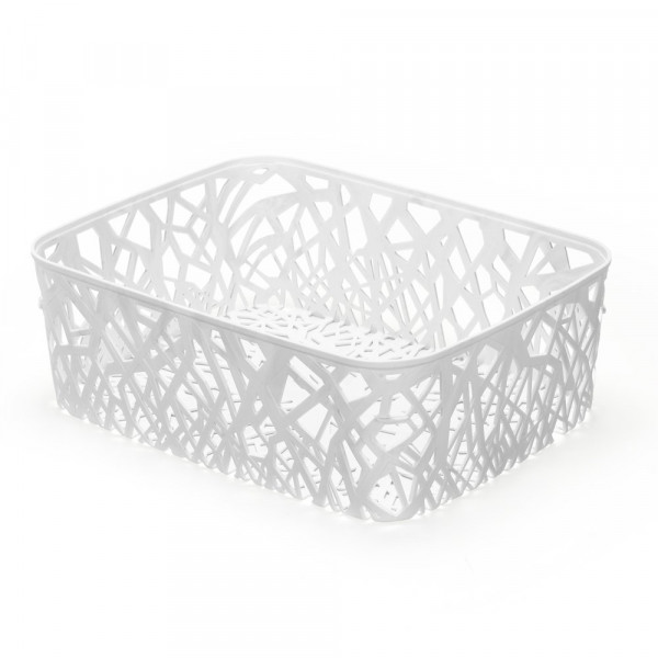 Cesto Mosaico Branco - Ref. 5046P