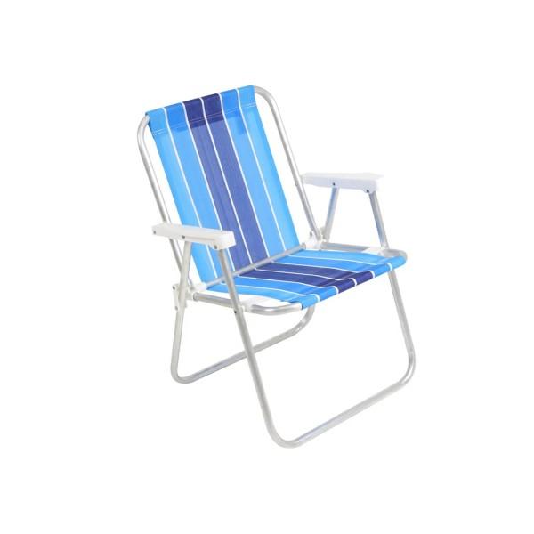 Cadeira de Praia Alta / Varanda Alumínio  - Ref. 25500