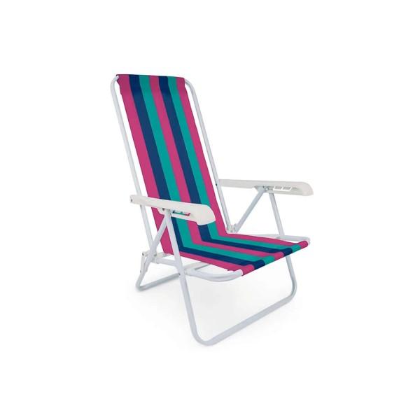 Cadeira de Praia Reclinável 4 posições - Ref. 2004