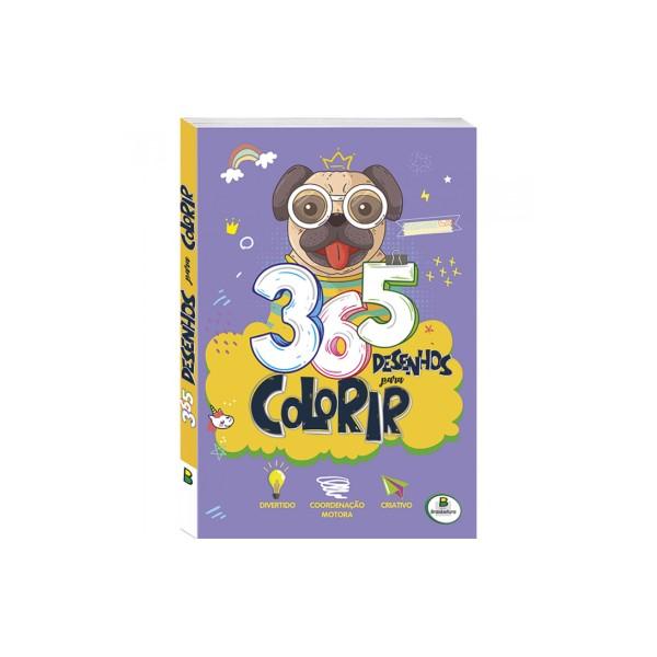 365 Desenhos Para Colorir (Roxo) - Ref. 1156543