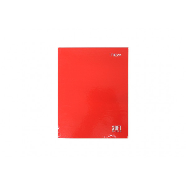 Caderno Universitário Costurado Vermelho - Ref. 90059